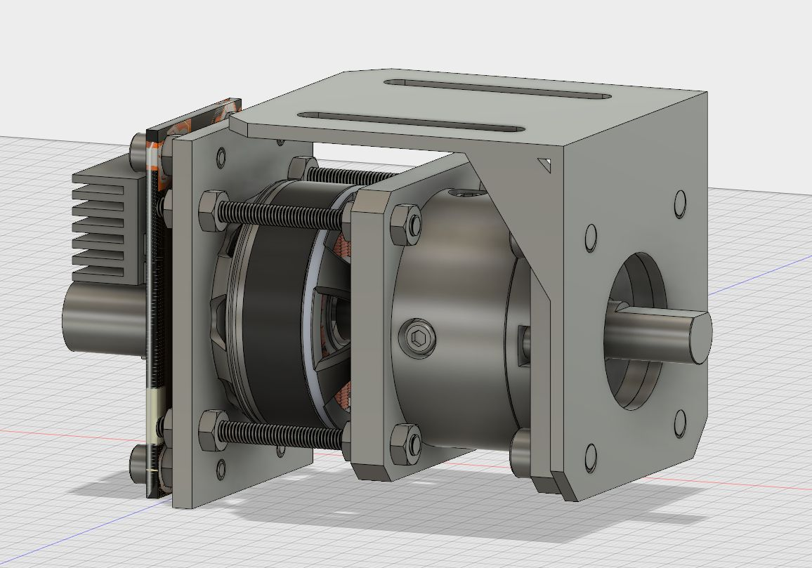 Odrive one with gearbox - with L bracket