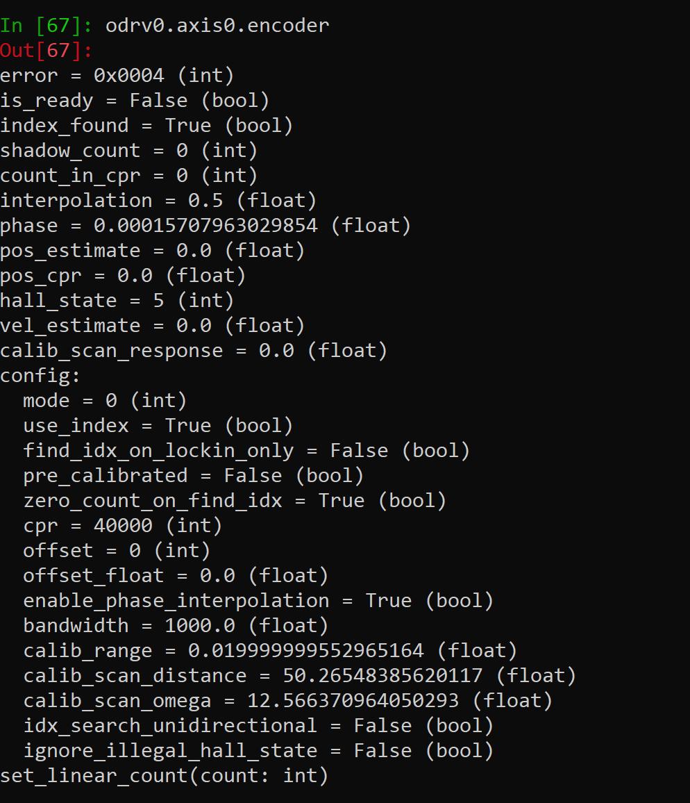 odrv0.axis0.encoder