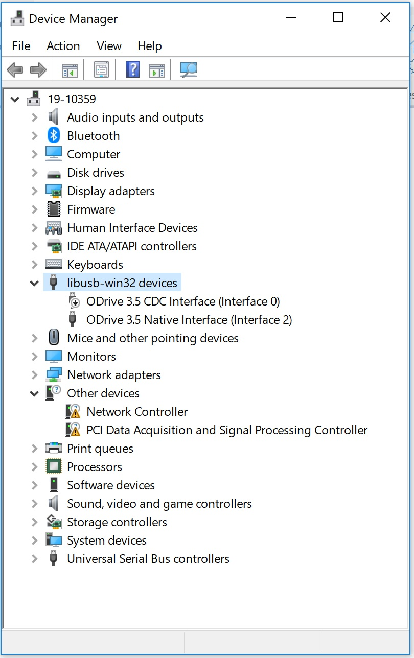 ODrive v3 5 not connecting in Windows - Support - ODrive