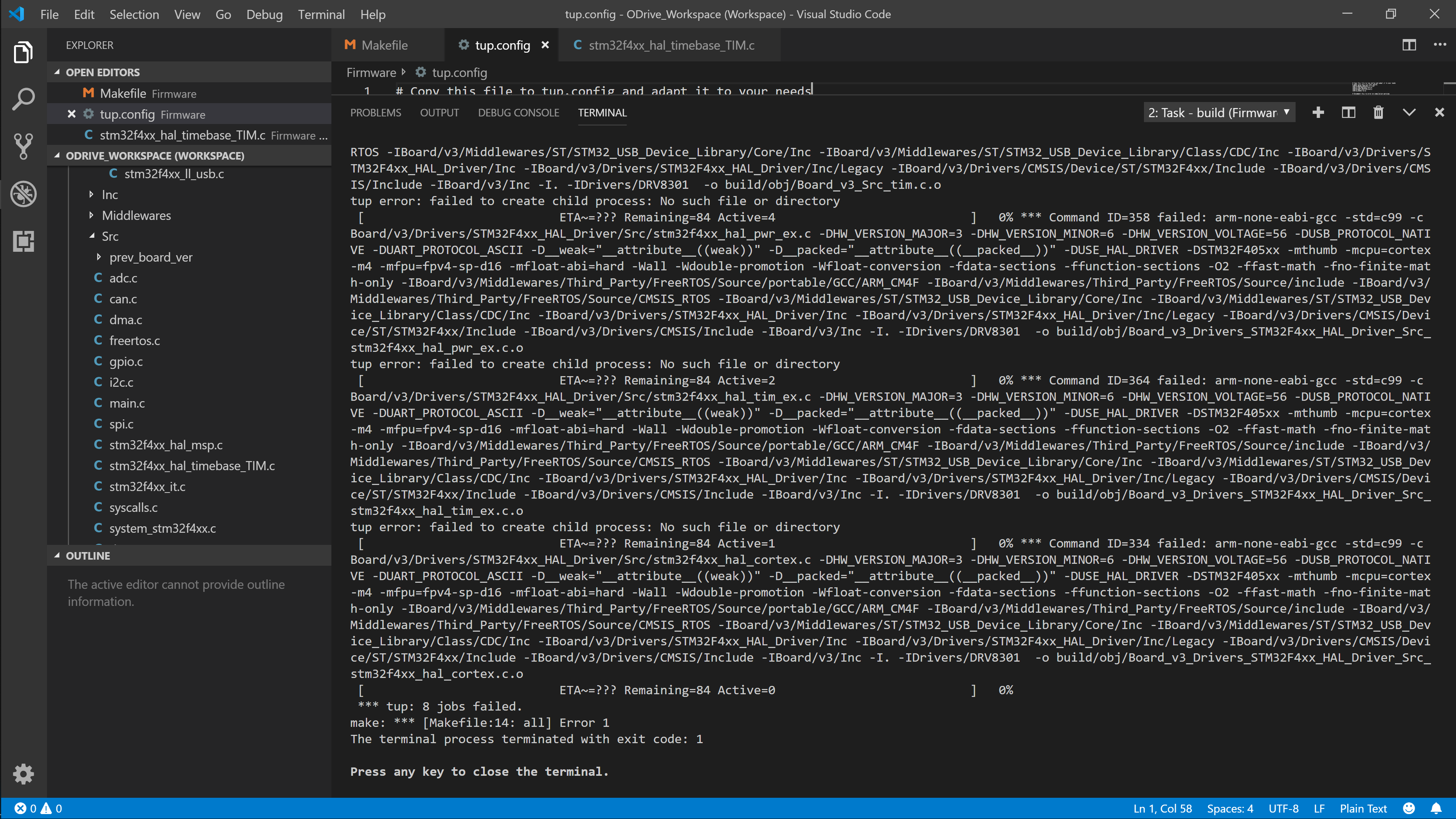 Issues with Compiling Firmware in Windows 10, VSCode - Support